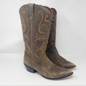 "Durango Crush Brown 13"" Western Cowboy Boots 8.5"